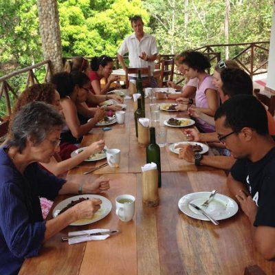 Tropical Fusion Cuisine at an amazing panama retreat center.