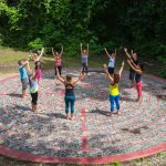 Meditation and Connection on the beautiful labyrinth - a perfect addition for a meditation retreat.