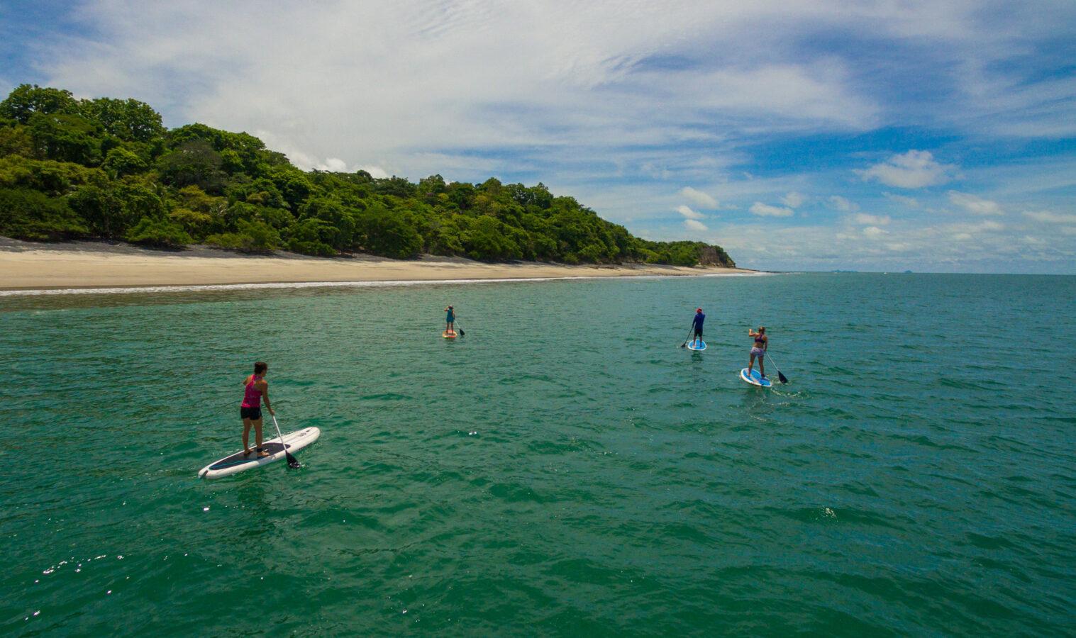 Stand-up-paddle-boarding vacation at the beautiful Playa Grande Beach.
