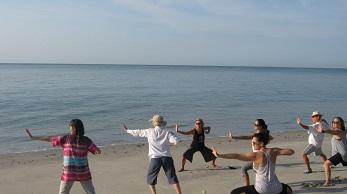 Quigong on Playa Grande Beach